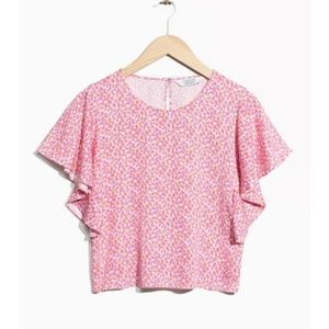 & other stories ruffle sleeve blouse